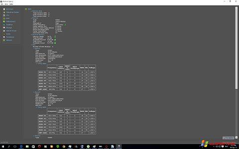 Captura de pantalla Speccy para Windows XP