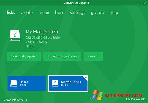Captura de pantalla MacDrive para Windows XP