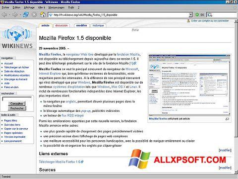 Captura de pantalla Mozilla Firefox para Windows XP