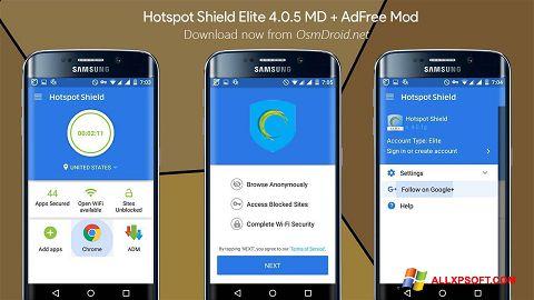 Captura de pantalla Hotspot Shield para Windows XP