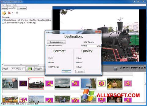 Captura de pantalla Bolide Slideshow Creator para Windows XP