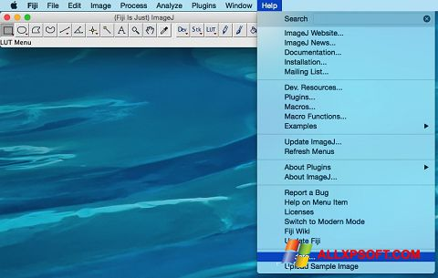 Captura de pantalla ImageJ para Windows XP
