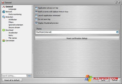 Captura de pantalla VSO Downloader para Windows XP