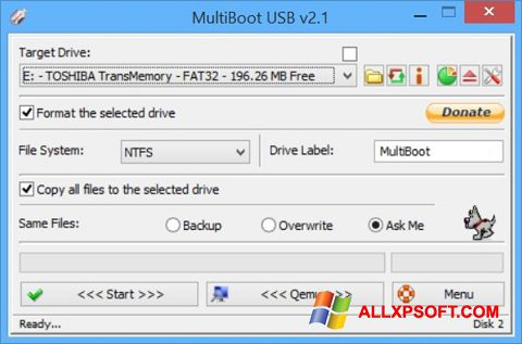 Captura de pantalla Multi Boot USB para Windows XP