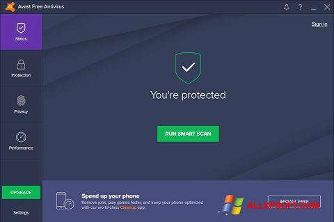 Captura de pantalla Avast Free Antivirus para Windows XP