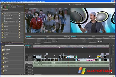 Captura de pantalla Adobe Premiere Pro para Windows XP