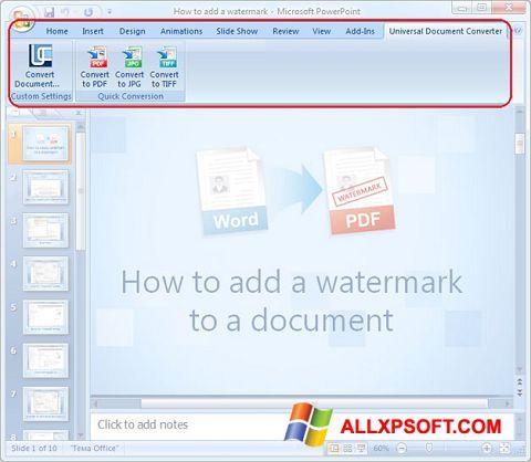 Captura de pantalla Microsoft PowerPoint para Windows XP