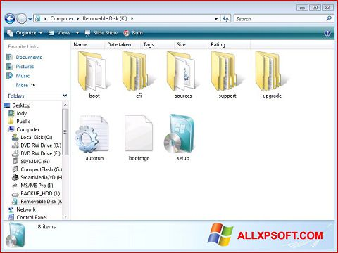 Captura de pantalla Windows 7 USB DVD Download Tool para Windows XP