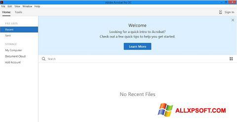 Captura de pantalla Adobe Acrobat Pro DC para Windows XP