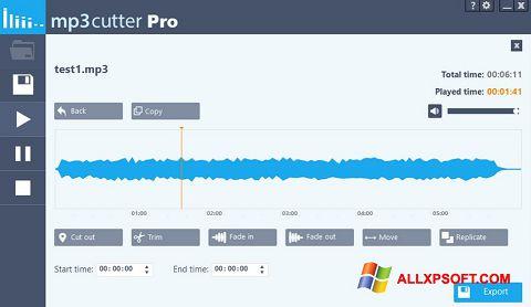 Captura de pantalla MP3 Cutter para Windows XP