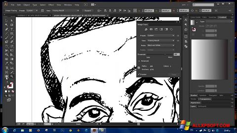 Captura de pantalla Adobe Illustrator CC para Windows XP
