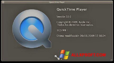 Captura de pantalla QuickTime para Windows XP