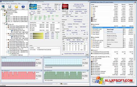 Captura de pantalla HWiNFO para Windows XP