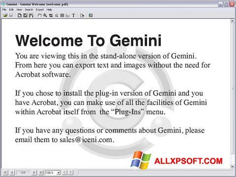 Captura de pantalla Gemini para Windows XP