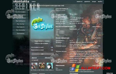 Captura de pantalla Get Styles para Windows XP