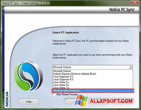Captura de pantalla Nokia PC Suite para Windows XP