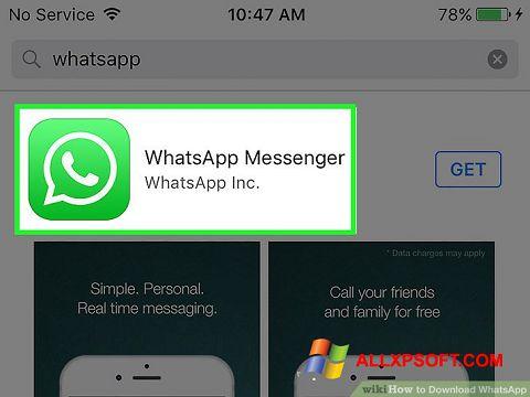 Captura de pantalla WhatsApp para Windows XP