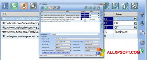 Captura de pantalla VideoGet para Windows XP