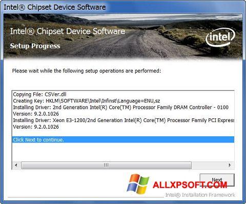 Captura de pantalla Intel Chipset Device Software para Windows XP