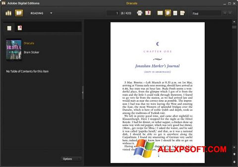 Captura de pantalla Adobe Digital Editions para Windows XP