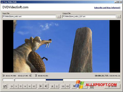 Captura de pantalla Free Video Dub para Windows XP