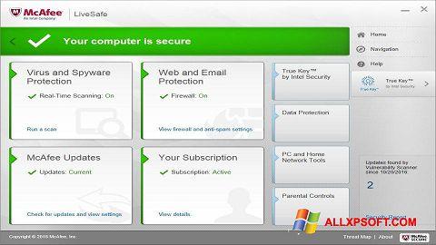 Captura de pantalla McAfee LiveSafe para Windows XP