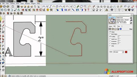 Captura de pantalla SketchUp para Windows XP