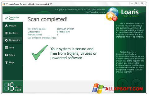 Captura de pantalla Loaris Trojan Remover para Windows XP