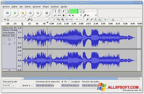 Captura de pantalla Audacity para Windows XP