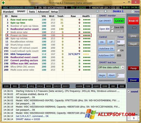 Captura de pantalla Victoria para Windows XP