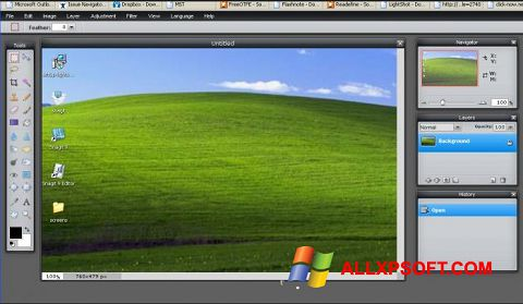 Captura de pantalla LightShot para Windows XP