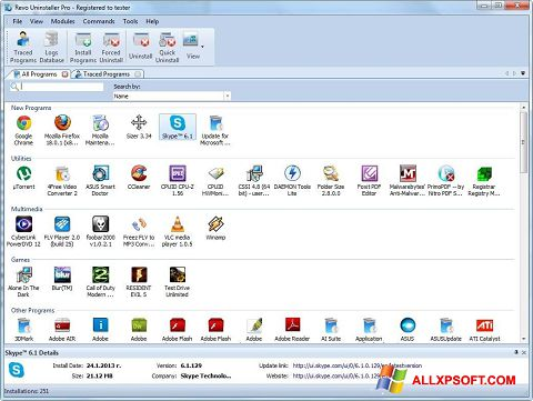Captura de pantalla Revo Uninstaller para Windows XP