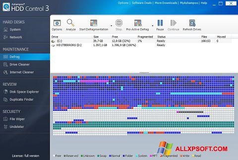Captura de pantalla Ashampoo HDD Control para Windows XP