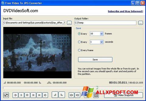 Captura de pantalla Free Video to JPG Converter para Windows XP