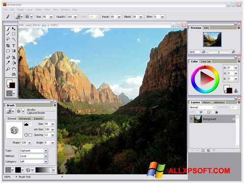 Captura de pantalla Artweaver para Windows XP