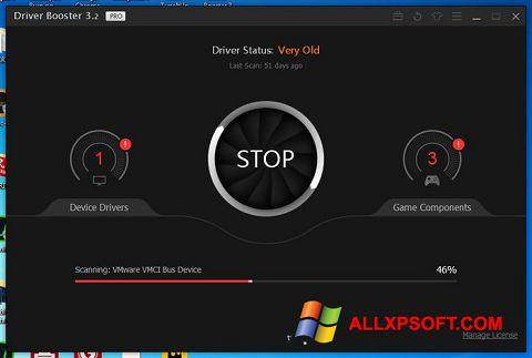 Captura de pantalla Driver Booster para Windows XP