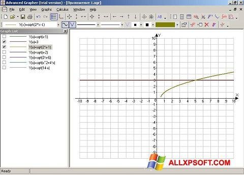 Captura de pantalla Advanced Grapher para Windows XP