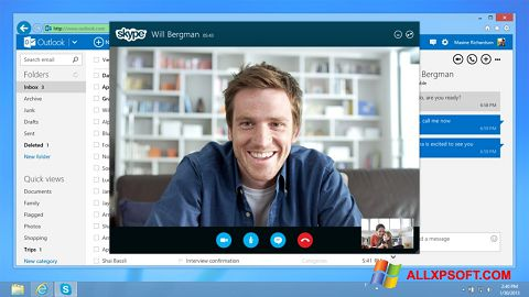Captura de pantalla Skype para Windows XP