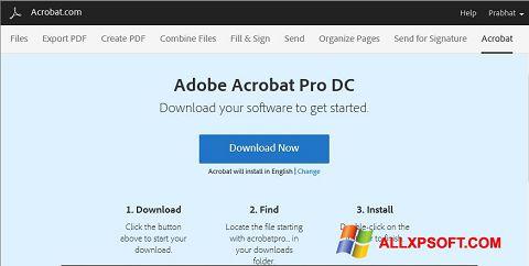 Captura de pantalla Adobe Acrobat para Windows XP