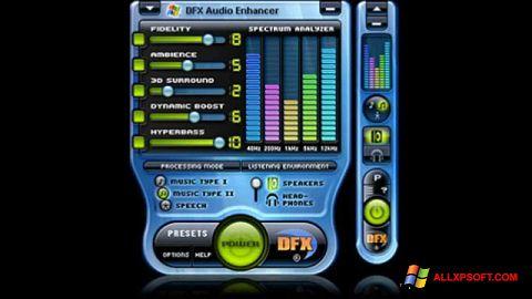 Captura de pantalla DFX Audio Enhancer para Windows XP