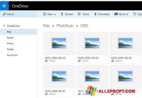 Captura de pantalla OneDrive para Windows XP