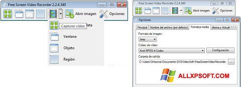 Captura de pantalla Free Screen Video Recorder para Windows XP