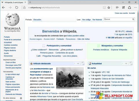 Captura de pantalla Microsoft Edge para Windows XP