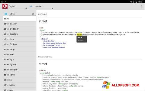 Captura de pantalla ABBYY Lingvo para Windows XP