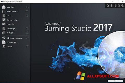 Captura de pantalla Ashampoo Burning Studio para Windows XP