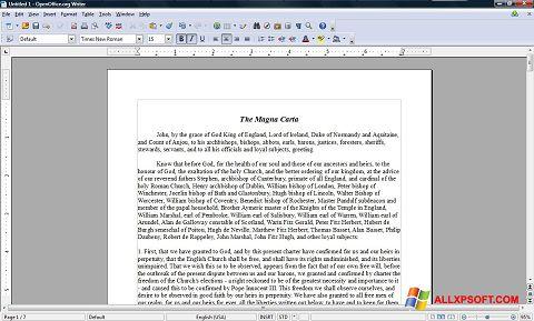 Captura de pantalla OpenOffice para Windows XP