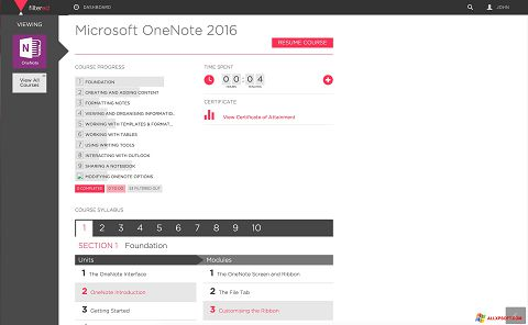 Captura de pantalla Microsoft OneNote para Windows XP